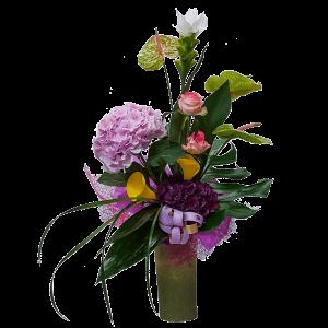Composizione particolare fiori misti di stagione