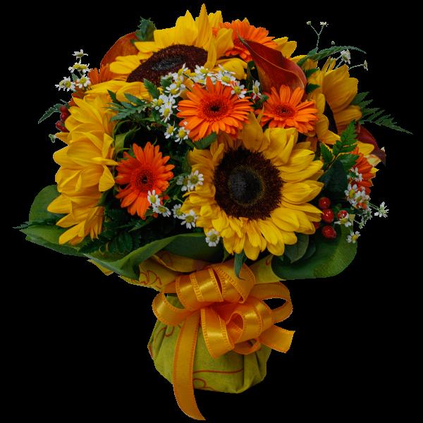 Bouquet estivo dai colori solari